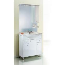 Мебель для ванной Aqwella Барселона Люкс 85 с бельевой корзиной
