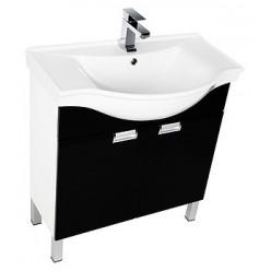 Мебель для ванной Aquanet Адель 80 черная