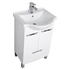 Мебель для ванной Aquanet Асти 55 М белая