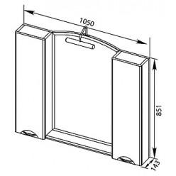 Мебель для ванной Aquanet Асти 105 белая