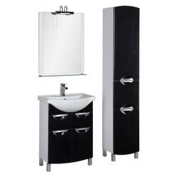 Мебель для ванной Aquanet Асти 65 черная
