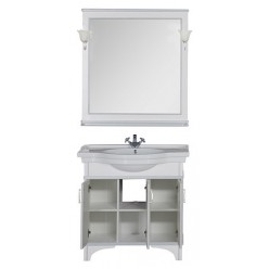 Мебель для ванной Aquanet Валенса 90 белый краколет/серебро