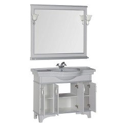 Мебель для ванной Aquanet Валенса 110 белый краколет/серебро