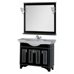 Мебель для ванной Aquanet Валенса 110 черный краколет/серебро