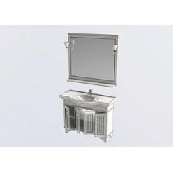 Мебель для ванной Aquanet Валенса 110 черный краколет/золото