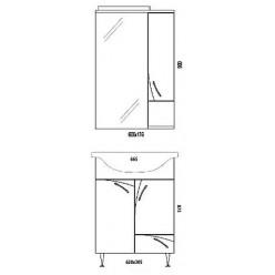 Мебель для ванной Aqwella Алина 65