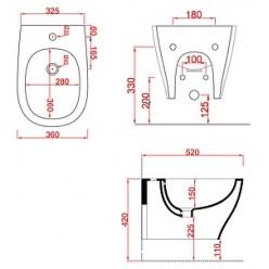 Биде подвесное ArtCeram Ten TEB002 01;00