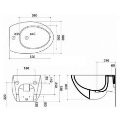Биде подвесное Disegno Ceramica Ovo OV00700101