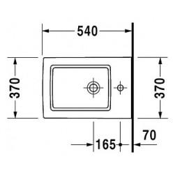 Биде подвесное Duravit Vero 223915