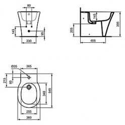 Биде напольное Ideal Standard Connect Air E018001
