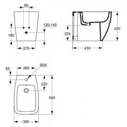 Биде напольное Ideal Standard Ventuno T515001