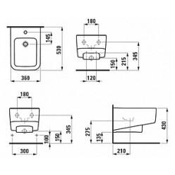 Биде подвесное Laufen Pro S 8.3096.1.000.302.1