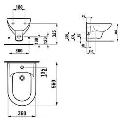 Биде подвесное Laufen Pro 3095.1.000.304.1