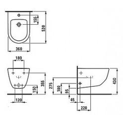 Биде подвесное Laufen Pro 8.3095.2.000.302.1