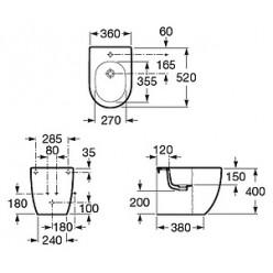 Биде напольное Roca Meridian Compact 357247000