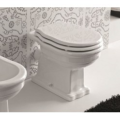 Унитаз Hidra Ceramica Ellade белый с высоким бачком, выпуск в стену