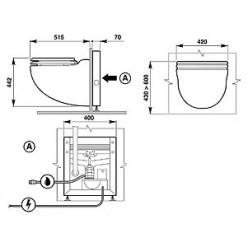 Унитаз подвесной SFA Sanicompact Comfort с встроенным насосом