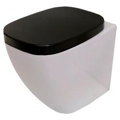 Унитаз приставной Hidra Ceramica Dial белый с черным