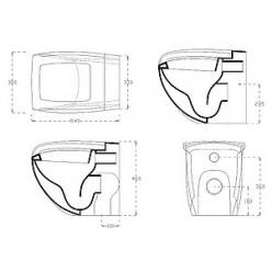 Унитаз приставной Hidra Ceramica Hi-line черный