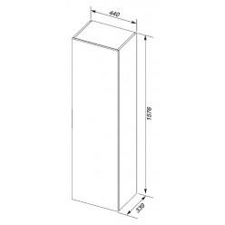 Шкаф-пенал Aquanet Алвита 40 белый R