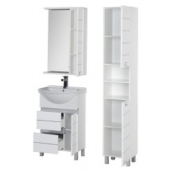 Шкаф-пенал Aquanet Доминика 35 белый R/L