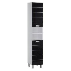 Шкаф-пенал Aquanet Доминика 35 черный R/L