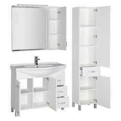 Шкаф-пенал Aquanet Глория 40 белый