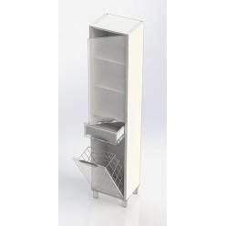 Шкаф-пенал Aquanet Гретта белый