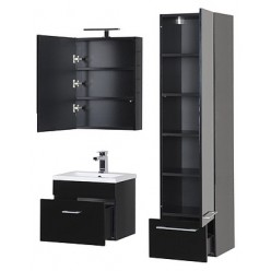 Шкаф-пенал Aquanet Нота черный