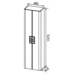 Шкаф-пенал Aquanet Паллада 50 белый