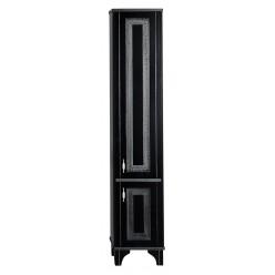 Шкаф-пенал Aquanet Валенса черный краколет/серебро