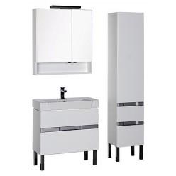 Шкаф-пенал Aquanet Виго белый