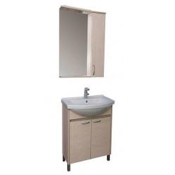 Зеркало-шкаф Aquanet Донна 60 светлый дуб