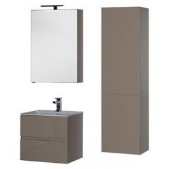 Зеркало-шкаф Aquanet Алвита 60 капучино