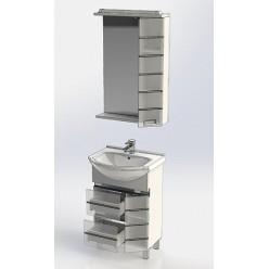 Зеркало-шкаф Aquanet Доминика 55 белый