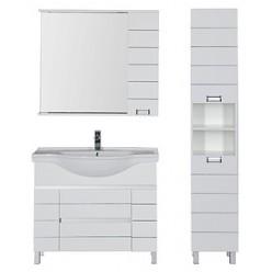 Зеркало-шкаф Aquanet Доминика 100 белый