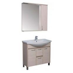 Зеркало-шкаф Aquanet Донна 100 беленый дуб