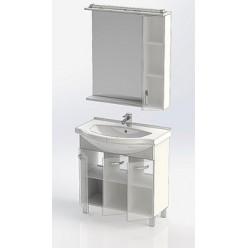 Зеркало-шкаф Aquanet Глория 80 белый