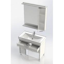 Зеркало-шкаф Aquanet Гретта 90 белый