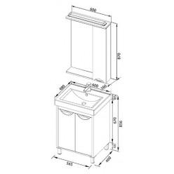 Зеркало-шкаф Aquanet Гретта 60 венге