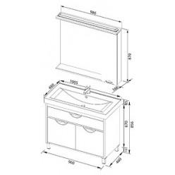 Зеркало-шкаф Aquanet Гретта 100 венге