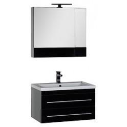Зеркало-шкаф Aquanet Верона 75 черный