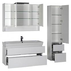 Зеркало-шкаф Aquanet Виго 120 белый