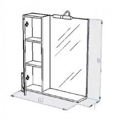 Зеркало-шкаф Triton Кристи 60 R