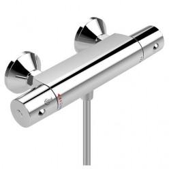 """""""Сератерм 50"""" смеситель настенный термостатический для душа, выход для душевого шланга по центру, литой корпус, хром"""
