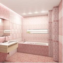 София розовая верх плитка настенная 20х30