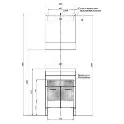 Тумба с раковиной Aquanet Верона 58 черная, 1 ящик, 2 двери