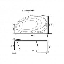 Акриловая гидромассажная ванна Джерси (Jersey) 170×90 левая