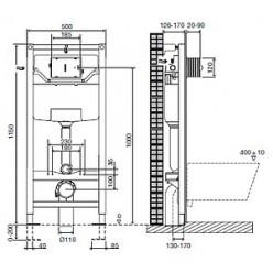 Комплект Jacob Delafon Patio E5504-NF-M2 (E5504-NF+E4326-00+E4187-00+E70021-00)