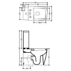 Унитаз-компакт Axa X-Tre